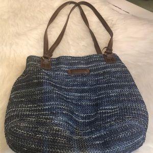 Rosetti blue straw looking shoulder bag